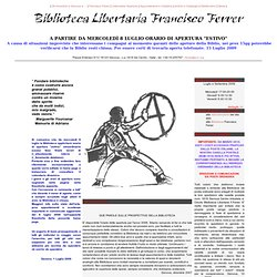 Biblioteca Libertaria Francisco Ferrer - Genova