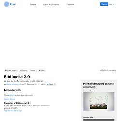Biblioteca 2.0 by mario simonovich on Prezi