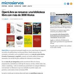 OpenLibra se renueva: una biblioteca libre con más de 3000 títulos
