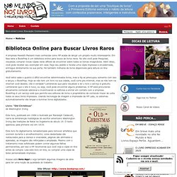 Biblioteca Online para Buscar Livros Raros