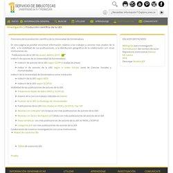Biblioteca UEX - Producción científica de la UEX