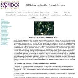 Biblioteca de Sonidos Aves de México