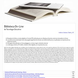 Biblioteca On-Line de Tecnología Educativa