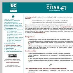 Tutorial CITAR, parte sobre plagio (U. Cantabria)