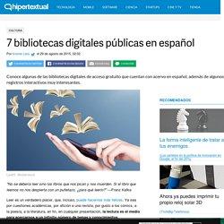 Bibliotecas digitales públicas en español