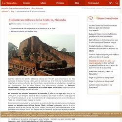 Bibliotecas míticas de la historia, Nalanda