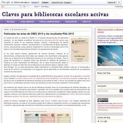 Publicadas las actas de CIBES 2015 y los resultados PISA 2015