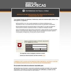 SISTEMA DE BIBLIOTECAS - UNIVERSIDAD DE TALCA