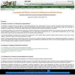Le proposte dell'AIB per rilanciare le biblioteche scolastiche italiane