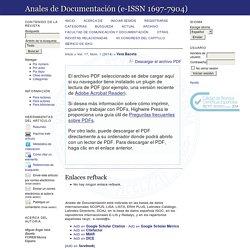 """Presencia de los blogs en el ámbito de la Biblioteconomía y Documentación en España: ¿Se puede hablar de una """"Biblogsfera""""?"""