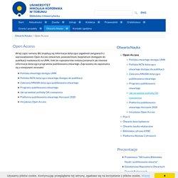 Open Access - Biblioteka Uniwersytecka w Toruniu
