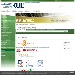 - Biblioteka Uniwersytecka - Open Access