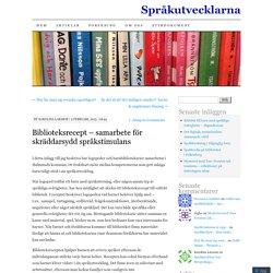 Biblioteksrecept – samarbete för skräddarsydd språkstimulans