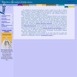 Bibliotheca Mechanico-Architectonica home english