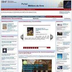 Portail Métiers du livre (BNF)