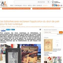 Les bibliothécaires réclament l'application du droit de prêt pour le livre numérique