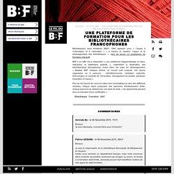 Une plateforme de formation pour les bibliothécaires francophones