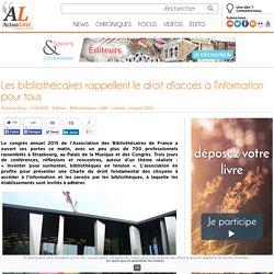 Les bibliothécaires rappellent le droit d'accès à l'information pour tous