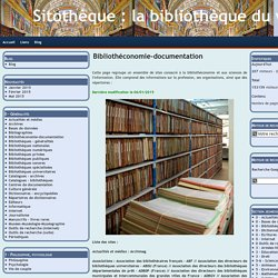 Bibliothéconomie-documentation