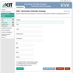 Karlsruher Virtueller Katalog KVK - Deutsch