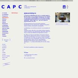 Bibliothèque CAPC (BDX)