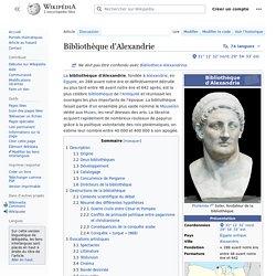 Bibliothèque d'Alexandrie : L'exemple commun ?