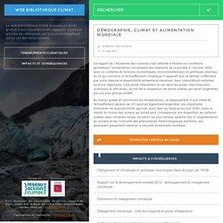 Démographie, climat et alimentation mondiale Web Bibliothèque Climat