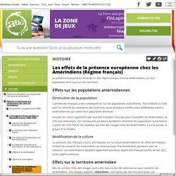 Bibliothèque virtuelle Les effets de la présence européenne chez les Amérindiens (Régime français)