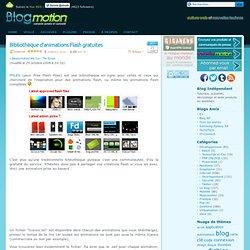 Bibliothèque d'animations Flash gratuites