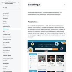 Bibliothèque - Manuel d'utilisation des applications Neo