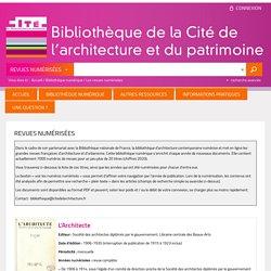 Bibliothèque de la Cité de l'architecture et du patrimoine - Nos revues