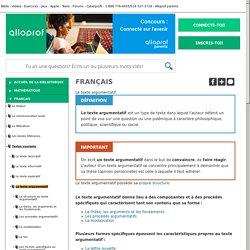 Bibliothèque virtuelle Le texte argumentatif