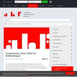 Commission Jeux vidéo en bibliothèque - Association des Bibliothécaires de France