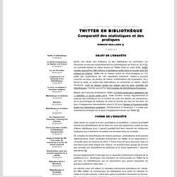 Juin 2015, Twitter en bibliothèque