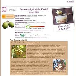 FT Beurre végétal de Karité BIO - Butyrospermum parkii