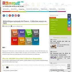 Bibliothèque nationale de France : Collection sonore en ligne