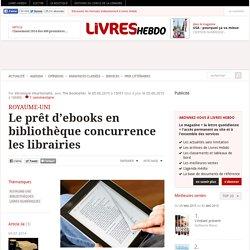 Le prêt d'ebooks en bibliothèque concurrence les librairies