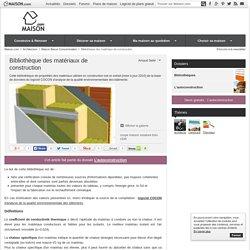 Bibliothèque des matériaux de construction