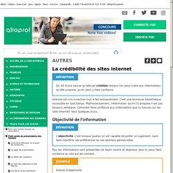 Bibliothèque virtuelle La crédibilité des sites internet
