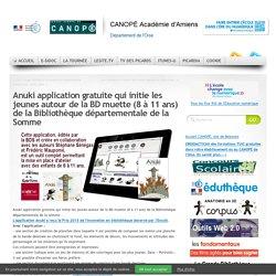Anuki application gratuite qui initie les jeunes autour de la BD muette (8 à 11 ans) de la Bibliothèque départementale de la Somme