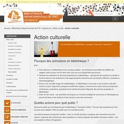 Action culturelle - Boite à outils - Espace pro - Bibliothèque Départementale de Prêt
