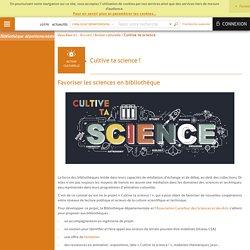 Bibliothèque départementale du Lot - Cultive ta science !