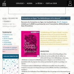 """Formation en ligne """"La bibliothèque et le citoyen"""" - Médiathèque départementale du Nord"""