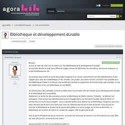 Bibliothèque et développement durable - Les animations