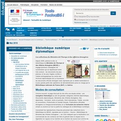 Bibliothèque numérique diplomatique