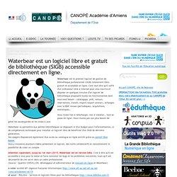 Waterbear est un logiciel libre et gratuit de bibliothèque (SIGB) accessible directement en ligne.