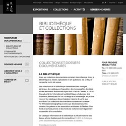 MNBAQ - Bibliothèque et collections