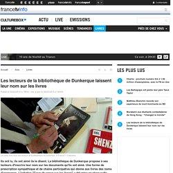 Les lecteurs de la bibliothèque de Dunkerque laissent leur nom sur les livres