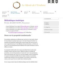 Bibliothèque ésotérique - Le Miroir de l'Urobore
