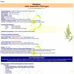 Fiche technique huile essentielle d'Estragon - Artemisia dracunculus